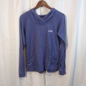 Columbia Tops - Columbia LSU crossover pullover hoodie. large